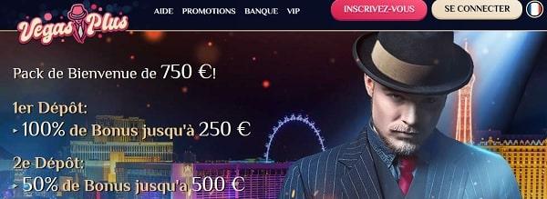 Bonus de bienvenue chez Vegas Plus casino