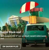 Bonus week-end chez Cresus casino