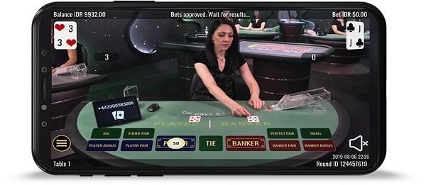 Le Blackjack en direct - Croupier en direct sur mobile
