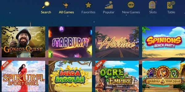 L'offre de jeu de Prince Ali casino