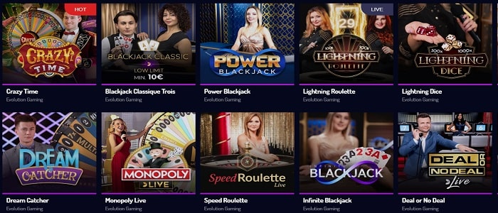 Lucky8 casino - Croupier en direct-min