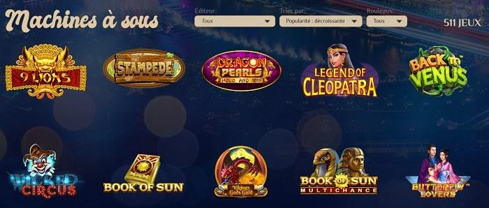 Machine à sous du Vegas Plus casino