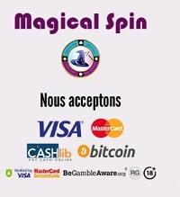 Magical spin casino - Méthodes de paiement