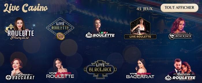 croupier en direct au Vegas Plus casino
